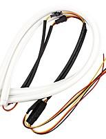 ZIQIAO 2pcs 60cm DRL Flexible LED Tube Strip Style Daytime Running Lights Tear Strip Car Headlight Turn Signal Light Parking Lamps