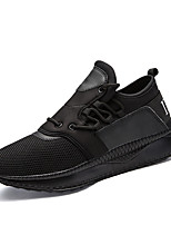 Men's Shoes Tulle Fall Winter Comfort Light Soles Sneakers Lace-up For Athletic Casual Black/White Red Gray Black