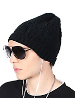 Unisex Acrylic Beanie/Slouchy Floppy HatHat Pattern Headwear Casual Chic & Modern Casual/Daily Keep Warm Knitwear Solid Fall Winter Pure