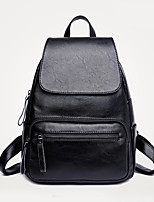 Women Bags All Seasons PU Backpack Pockets for Casual Office & Career Blue Black Purple Wine