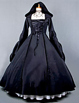 Cosplay Costumes Cinderella Goddess Santa Suits Vampire Festival/Holiday Halloween Costumes Black Solid Color Lace Dress Halloween
