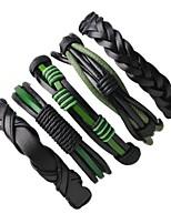 Муж. Wrap Браслеты Кожаные браслеты Rock Ручная работа Кожа Круглой формы Бижутерия Назначение Для улицы На выход