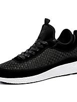 Men's Shoes Tulle Fall Winter Comfort Light Soles Sneakers Lace-up For Athletic Casual Red Gray Black