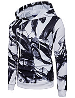 Men's Casual/Daily Street chic Hoodie Print Hooded Micro-elastic Polyester Long Sleeve Fall Winter