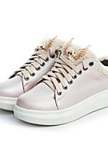 Da donna Scarpe Finta pelle Autunno Inverno Comoda Sneakers Polacche Per Casual Formale Argento Rosa