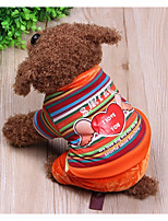 Dog Clothes/Jumpsuit Dog Clothes Casual/Daily Stripe Rainbow