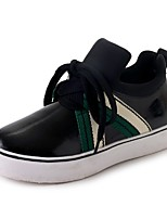 Women's Shoes PU Fall Comfort Sneakers Flat Heel Round Toe Lace-up For Casual Green Red