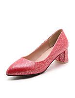 Femme Chaussures Polyuréthane Printemps Automne Confort Chaussures à Talons Gros Talon Bout pointu Pour Blanc Beige Rouge