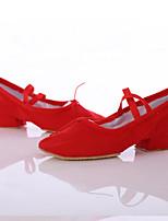 Damen Jazz Leinwand Sneaker Innen Maßgefertigter Absatz Rot Maßfertigung