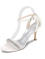 Da donna scarpe da sposa Con cinghia Anello per dita del piede Primavera Estate Raso Matrimonio Serata e festa Con diamantini A stiletto