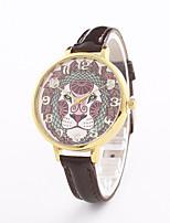 Mulheres Relógio de Moda Relógio de Pulso Quartzo Couro Banda Casual Preta Branco Azul Prata Vermelho Marrom Dourada Rosa Rose