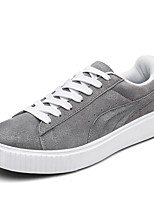 Men's Shoes Suede Spring Fall Comfort Sneakers Lace-up For Casual Gray Black