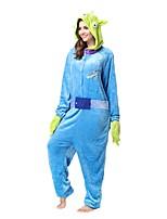 Kigurumi Pajamas Piggy/Pig Leotard/Onesie Festival/Holiday Animal Sleepwear Halloween Blue Animal Flannel Kigurumi For Unisex Halloween