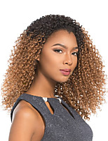 Women Synthetic Wig Lace Front Medium Length Curly Black Side Part Natural Wigs Costume Wig