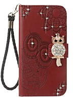 cheap -Case For OnePlus Card Holder Wallet Rhinestone with Stand Flip Pattern Embossed Full Body Cases Owl Hard PU Leather for One Plus 5