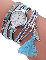 Damen Modeuhr Armband-Uhr Simulierter Diamant Uhr Chinesisch Quartz Imitation Diamant PU Band Böhmische Bettelarmband Bequem Elegante