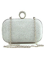 Women Bags All Seasons Special Material Evening Bag Crystal Detailing for Wedding Event/Party Formal Gold Black Silver