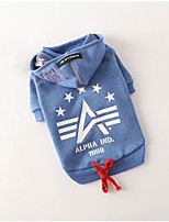 Dog Hoodie Dog Clothes Casual/Daily Stars Blue