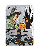 cheap -For iPad (2017) Case Cover Transparent Pattern Back Cover Case Halloween Soft TPU for Apple iPad (2017) iPad Pro 12.9'' iPad Pro 9.7''