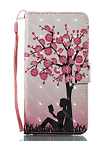 For Case Cover Card Holder Wallet with Stand Flip Pattern Full Body Case Sexy Lady Tree Hard PU Leather for Samsung Galaxy A3(2017)
