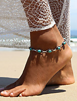 Women's Anklet/Bracelet Turquoise Alloy Sexy Bohemian Oval Jewelry For Casual Going out