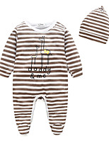 Baby Stripe One-Pieces,100%Cotton Spring/Fall Long Sleeve