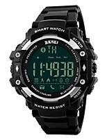 SKMEI Herrn Sportuhr Smart Uhr Digitaluhr digital PU Band Schwarz