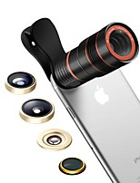 SENBOWE Smartphone Camera Lenses 0.36X Wide Angle Lens 15X Macro Lens 8X Telescope Lens Fish-eye Lens CPL for ipad iphone Huawei xiaomi samsung
