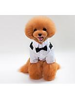 Dog Tuxedo Dog Clothes Wedding Bowknot Blue Black