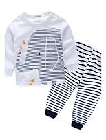 Boys' Stripes Sets,Cotton Spring Fall Long Sleeve Clothing Set