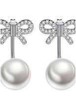 Women's Stud Earrings Earrings Set Imitation Pearl Fashion Elegant Imitation Pearl Alloy Bowknot Ball Jewelry For Wedding Party