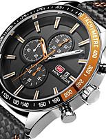 Per uomo Bambini Orologio sportivo Orologio alla moda Orologio casual Cinese Quarzo Calendario Cronografo Resistente all'acqua Pelle Vera