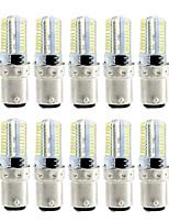 10 4W LED Corn Lights 80 leds SMD 3014 Dimmable Warm White White 360lm 3000-3500  6000-6500K AC110 AC220V