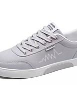 Da uomo Scarpe Tessuto Primavera Autunno Suole leggere Sneakers Lacci Per Casual Bianco Grigio Nero e Oro Bianco/nero
