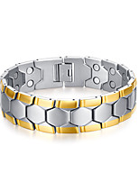 Men's Chain Bracelet Punk Rock Titanium Steel Geometric Jewelry For Party Gift