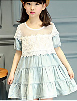 Girl's Casual/Daily Solid Dress Summer Short Sleeve