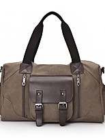 Men Bags All Seasons Canvas Tote Pockets Zipper for Casual Outdoor Black Coffee Brown