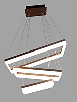 Remoter Dimming Led 90W Pendant Light Aluminium Coffee Gold Brushed for Living Room Modern Lighting