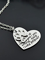 Women's Pendant Necklaces Heart Four Prongs Alloy Love Jewelry For Gift Daily