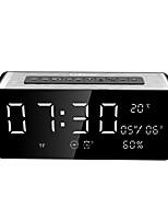 SARDiNEA10 Bluetooth Visualizzazione del tempo Bluetooth 4.0 USB Casse acustiche da supporto o da scaffale Nero
