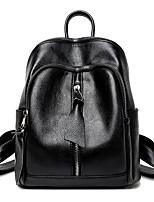 Women Bags All Seasons PU Backpack Zipper for Casual Blue Black Wine
