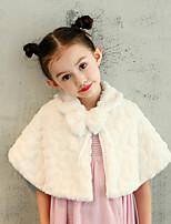 Kids' Wraps Capelets Faux Fur Wedding Party/ Evening Bow(s) Pattern / Print
