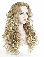 Women Synthetic Wig Capless Long Curly Strawberry Blonde/Bleach Blonde Party Wig Celebrity Wig Halloween Wig Cosplay Wig Natural Wigs