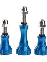 bouton en aluminium pouce en acier inoxydable vis filet pour gopro hd héros 1/2/3/3/4 st-50 bleu