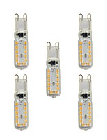 5 pcs 4W G9 LED Bi-pin Lights T 24 leds SMD 2835 Warm White White 320lm 3000-3500/6000-6500K AC 220-240V