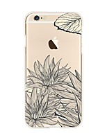 abordables -Funda Para Apple iPhone X iPhone 8 Transparente Diseños Funda Trasera Flor Suave TPU para iPhone X iPhone 8 Plus iPhone 8 iPhone 7 Plus