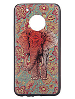Case For Motorola Moto G5 Plus Case Cover Elephant Pattern Relief Back Cover Soft TPU