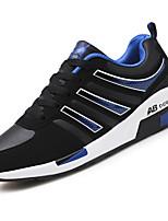 Для мужчин обувь Резина Весна Осень Удобная обувь Спортивная обувь Шнуровка Назначение Черно-белый Черный/Красный Черный / синий