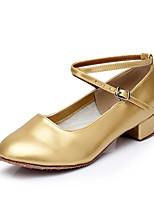 Da donna Danza moderna Finta pelle Tacchi Per interni Basso Oro Argento Personalizzabile
