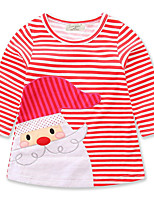Girl's Casual/Daily Going out Striped Dress,Cotton Polyester Spring Fall Long Sleeve